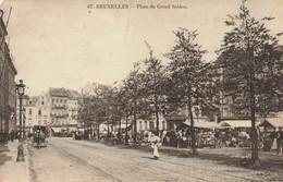 BRUXELLES - Place Du Grand Sablon - Photo-carte Très Animée Et Circulée En 1911 - Brussel (Stad)