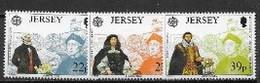 Jersey 1992 N° 572/574 Neuf Europa Découverte De L'Amérique - 1992