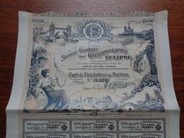 FRANCE - PARIS 1907 - LOT 2 TITRES - STE GENERALE DES CINEMATOGRAPHES ECLISPE - PART DE FONDATEUR - Unclassified