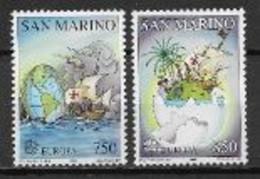 Saint Marin 1992 N° 1301/1302 Neufs Europa Découverte De L'Amérique - 1992