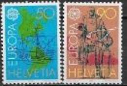 Suisse 1992 N° 1393/1394 Neufs Europa Découverte De L'Amérique - 1992