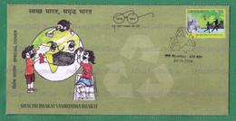 INDIA 2020 Inde Indien - SWACHH BHARAT SAMRIDDHA BHARAT - Special Cancellation Cover - Mumbai 25.11.2020 - Mask, Polluti - Polucion