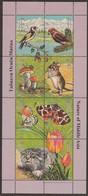 Tajikistan 2002, Bird, Birds, M/S Of 8v, MNH** - Sonstige