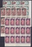 France - 1495/97 ** Grands Noms De L'Histoire (Vercingétorix Clovis Charlemagne) 1966 - Blocs De 15 - Nuovi