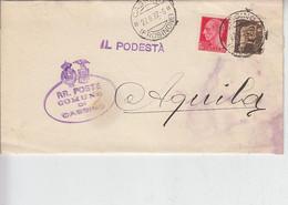 1932 Da CASSINO (FR) Ad Aquila - Richesta Documenti -.- - Manuscripten