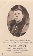ABL, Albert Marcq , Né à Yves Le 1er Juillet 1916 Mort Au Champ D'honneur Le 18 Mai 1940 ( Charleroi ) - Obituary Notices