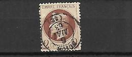 France 1862  Cat Yt N ° 26 B - 1863-1870 Napoléon III Con Laureles
