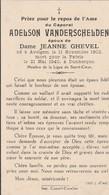 ABL, Adelson Vanderschelden , Né à Avelgem Le 11 Novembre 1902 Mort Pour La Patrie Le 21 Mai 1940 à Dunkerque - Obituary Notices