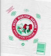 ETIQUETTE DE FROMAGE 21 X 21  CM NEUVE   PETIT MUNSTER GEROME   ANCEL RENEL ORBEY - Cheese