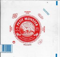 ETIQUETTE DE FROMAGE 20 X 20  CM NEUVE PETIT MUNSTER HUTENHEIM - Cheese