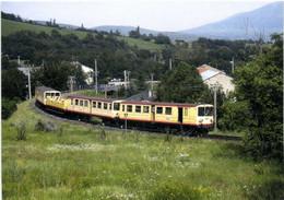 """Emmené Par La Z 115 Le """"train Jaune"""" Villeftanche Vernet Les Bains - Latour De Carol Enveigt  Vient De Quitter Ur Les Es - Otros Municipios"""