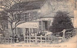Cpa Paris 18 Montmartre La Terrasse Du Cabaret Le  Lapin Agile Repaire Anarchiste Carte Animée - Distrito: 18