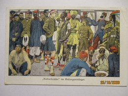 Kriegspostkarte Lustige Blätter Nr. 47 Kulturbrüder Im Gefangenenlager (38779) - War 1914-18