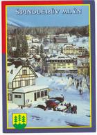 Spindleruv Mlyn: LAND ROVER 88, FIAT 128 - 'Hotel Hubertus' - Stred Mésta - Krkonose - (Czech) - Turismo