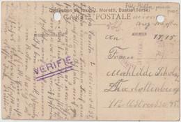 Kriegsgefangenen-Sendung  - Depot Des Prisonniers De Guerre -aus Dem Lager Miomo/Korsika - Ajaccio