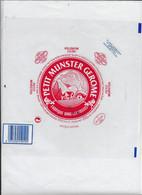 ETIQUETTE DE FROMAGE NEUVE  21 X 21 PETIT MUNSTER GEROME VOSGES  AFFINE A HUTTENHEIM - Cheese