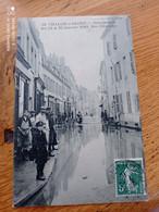 RARE CPA 71// CHALON SUR SAONE// INONDATIONS 1910 RUE GLORIETTE - Chalon Sur Saone