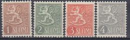 ++M1502. Finland 1954-58. AFA 432-34+500. Michel 425-27+492. MNH(**). - Neufs
