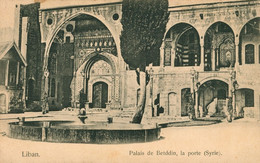 CPA LIBAN - Palais De BETDDIN, La Porte (Syrie) - écrite 1925 - Dos Non Divisé - Líbano