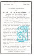 DP Julia Vandewalle ° Lichtervelde 1897 † Menen Menin 1962 X Alfons Cappon Xx Remi Lefever - Devotion Images