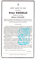 DP Irma Rosselle ° Lichtervelde 1895 † Roesbrugge Poperinge 1960 X Michel Callens - Devotion Images