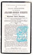 DP Juliana M. Vergote ° Lichtervelde 1860 † Brugge 1920 X Henri Nevejan // Poelkapelle - Devotion Images