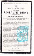 DP Rosalie Beke ° Lichtervelde 1844 † Gits Hooglede 1924 X Louis Dewitte - Devotion Images