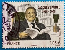France 2013 :  Jacques Baumel, Homme Politique Français N° 4754 Oblitéré - Oblitérés
