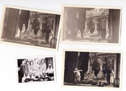 """Photo Et 3 Photos Cartes  Cercle Dramatique Peut-être  """" L'AGREMENT """" De HERSTAL / Liège ?????    1943 (B247) - Places"""