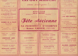 SEINE MARITIME EU LE TREPORT PROGRAMME NUMEROTE FETE AERIENNE DU DIMANCHE 21 AOUT 1949 - Programs