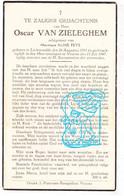 DP Oscar Van Zieleghem ° Lichtervelde 1881 † Veurne 1947 X Aline Feys - Devotion Images