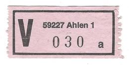 ★VZ01★ Germany V-Zettel ★★ 59227 Ahlen 1 A - R- & V- Vignetten
