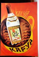 Kafya Stolichnaya Coffee Flavored Vodka 4x6 Advertising Rack Card Not Posted NM - Pubblicitari