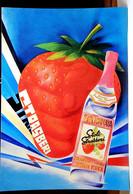 Strasberi Stolichnaya Strawberry Flavored Vodka 4x6 Advertising Rack Card Not Posted NM - Pubblicitari