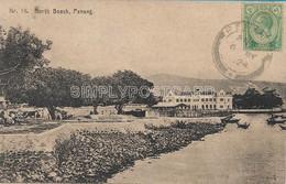 AK OLD  POSTCARD - MALESIA -  PENANG - NORTH BEACH - PRIMI '900 -  A7 - Malesia