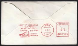 Austria Vienna 1961 / LUPOSTA, Airplane Exhibition / Machine Stamp, Meter / 100 Jahre Wiener Kunstlerhaus, Art - Airplanes