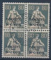 HELVETIA - Dienstmarken/Timbres De Service: S.D.N.- Mi Nr 11x (Viererblock) - Gest./obl. - Dienstzegels