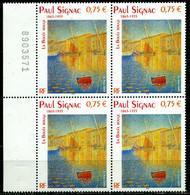 "N° 3584 Tableau "" La Bouée Rouge "" De Paul SIGNAC Bloc De Quatre NEUF ** - Nuovi"