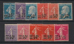 France - 1926-27 - N°Yv. 217 à 228 - Semeuses - Série Complète - Neuf Luxe ** / MNH / Postfrisch - Unused Stamps