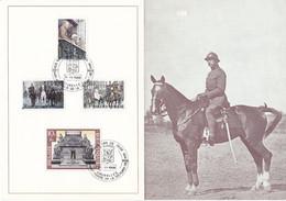 35 1474 1477 CS FDC  Carte Souvenir Belgique    Patriotique 50 Ans Victoire 1918 Brussel Bruxelles 9-11-1968 - Souvenir Cards