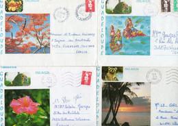 GUADELOUPE  Lot De 10 Enveloppes .. Quelques Flammes... - Other