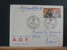A13/493 LETTRE A.O.F.  1958 FDC SIGNATURE - Brieven En Documenten