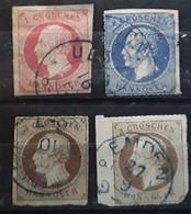 HANNOVER HANOVRE Anciens Etats Deutschland  1865 Georg V, 4 Timbres  Yvert No 17,25, 26 X2 Obl  ,BTB Cote 280 Euros - Hannover