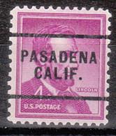 Locals USA Precancel Vorausentwertung Preo, Locals California, Pasadena 256 - Precancels