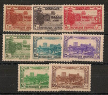 Grand Liban - 1937-40 - Poste Aérienne PA N°Maury 72 à 79 - Série Complète - Neuf Luxe ** / MNH / Postfrisch - Unused Stamps