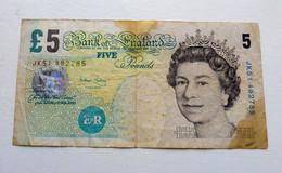 Billet Grande Bretagne  5 Pounds - Unclassified