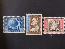 GERMANY ALLEMAGNE EMPIRE DEUTSCHES III REICH 1942 CONGRESSO POSTALE EUROPEO CAT. YVERT N.746A/746C MNH - Unused Stamps