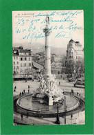 13 - Marseille - La Fontaine Cantini - Animée - Tramway - Correspondance - Voyagée En 1919 - CPA - Voir Scans Recto-Vers - Monumenti