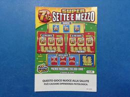 ITALIA BIGLIETTO LOTTERIA GRATTA E VINCI USATO € 3,00 SUPER SETTE E MEZZO LOTTO 3005 NUOVO LOGO REPUBBLICA E SCRITTA ADM - Billetes De Lotería