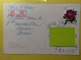 CHINE , 43 C , Pivoine SUR CARTE , Voir Scan - Storia Postale